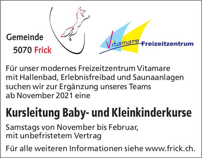 Kursleitung Baby- und Kleinkinderkurse, Gemeinde Frick / Vitamare Freizeitzentrum, gesucht