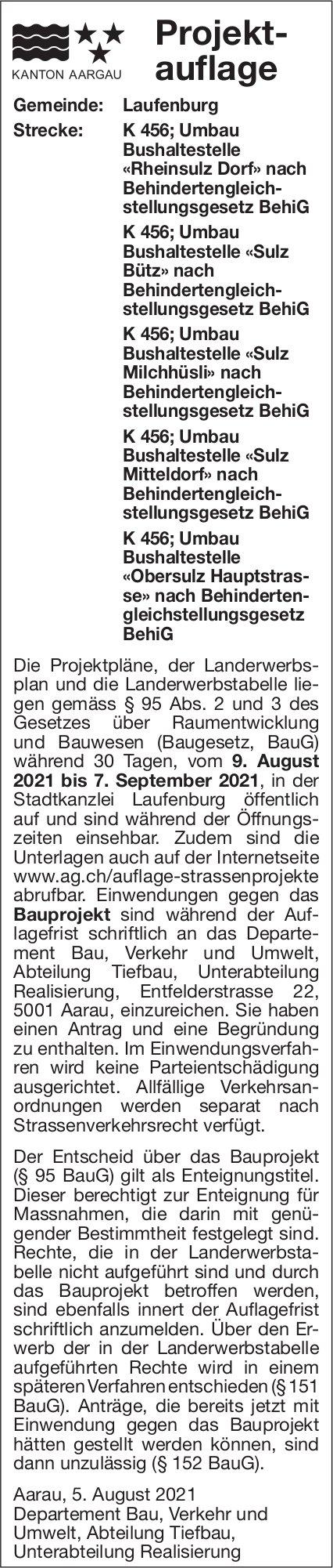 Kanton Aargau, Aarau - Projektauflage Laufenburg