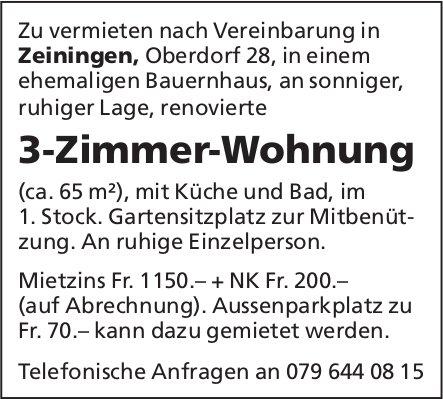 3-Zimmer-Wohnung, Zeiningen, zu vermieten
