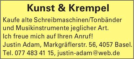 Kaufe alte Schreibmaschinen / Tonbänder und Musikinstrumente jeglicher Art, Kunst & Krempel, Basel