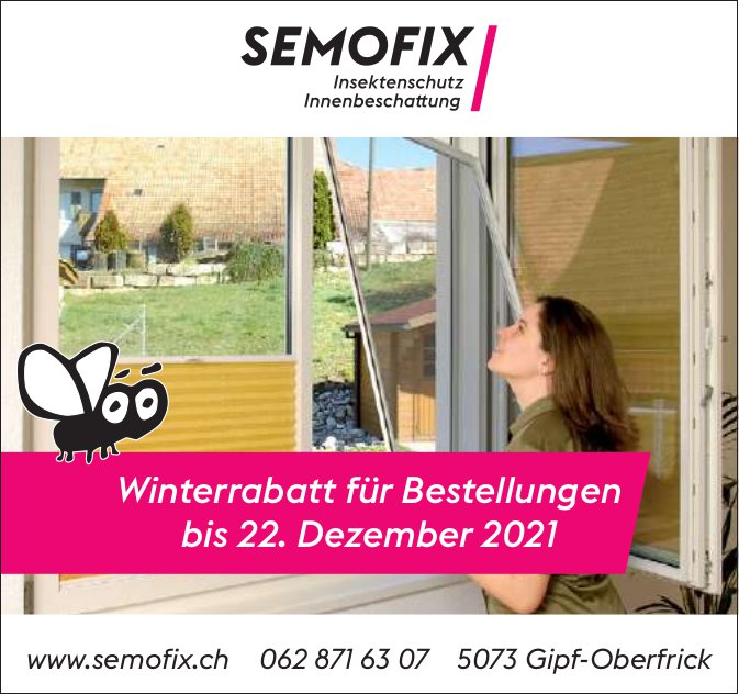 Semofix, Gipf-Oberfrick - Winterrabatt für Bestellungen bis 22. Dezember 2021