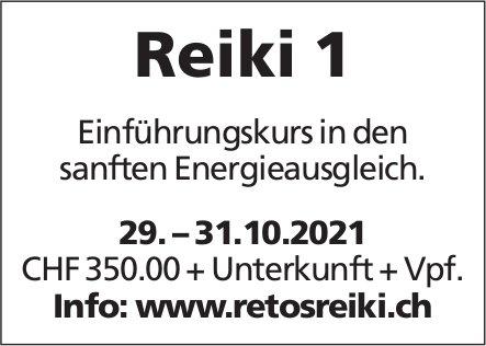 Reiki 1 - Einführungskurs in den sanften Energieausgleich