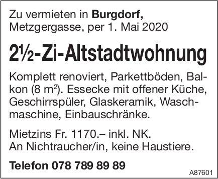 2½-Zi-Altstadtwohnung, Burgdorf, zu vermieten
