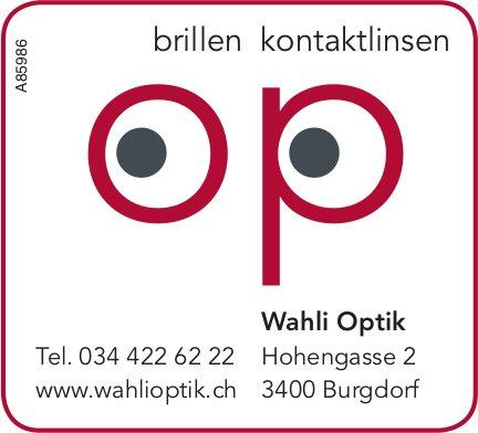 Wahli Optik - Brillen / Kontaktlinsen