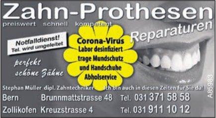 Stephan Müller dipl. Zahntechniker, Bern - Zahn-Prothesen Reparaturen