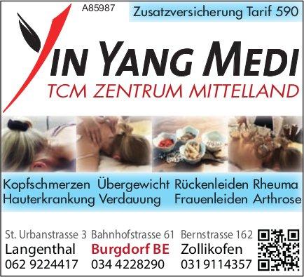 YIN YANG MEDI, TCM Zentrum Mittelland