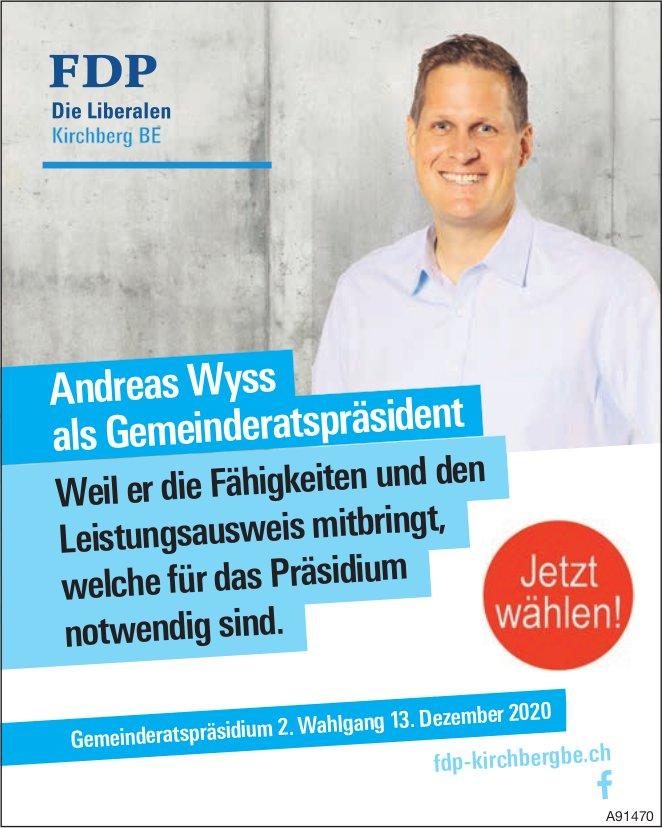 FDP, Andreas Wyss als Gemeinderatspräsident