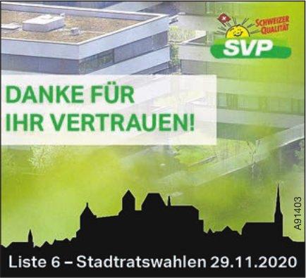 SVP - Danke Für Ihr Vertrauen!