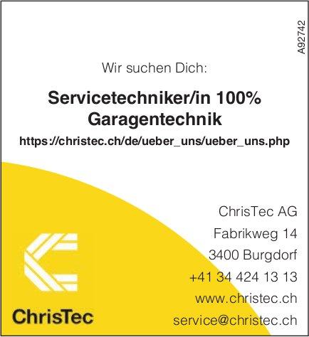 Servicetechniker/in 100%, Garagentechnik, ChrisTec AG, Burgdorf, gesucht