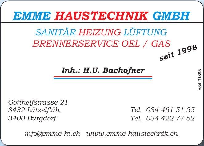 Emme Haustechnik GmbH, Lützelflüh - Sanitär, Heizung, Lüftung