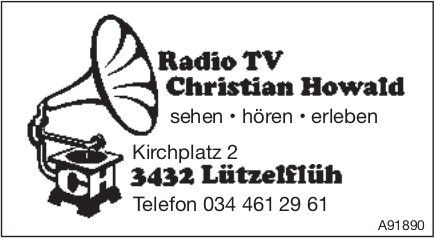 Radio TV Christian Howald, Lützelflüh - Sehen, hören, erleben