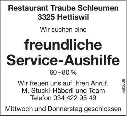 Freundliche Service-Aushilfe 60–80 %, Restaurant Traube Schleumen, Hettiswil, gesucht