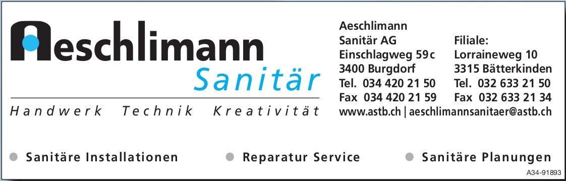 Aeschlimann Sanitär AG, Burgdorf - Handwerk, Technik, Kreativität