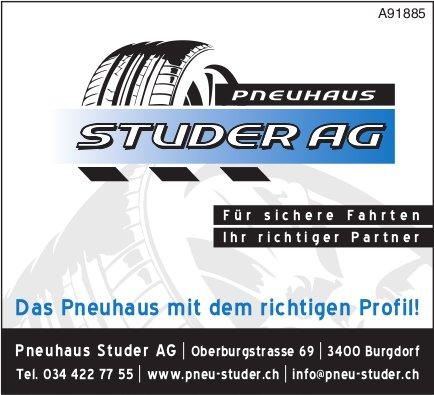 Pneuhaus Studer AG, Burgdorf - Das Pneuhaus mit dem richtigen Profil!
