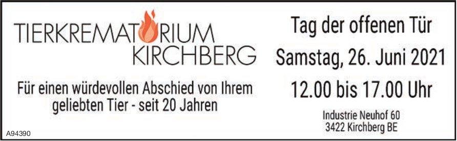 Tierkrematörium Kirchberg - Tag der offenen Tür, 26. Juni, Kirchberg BE