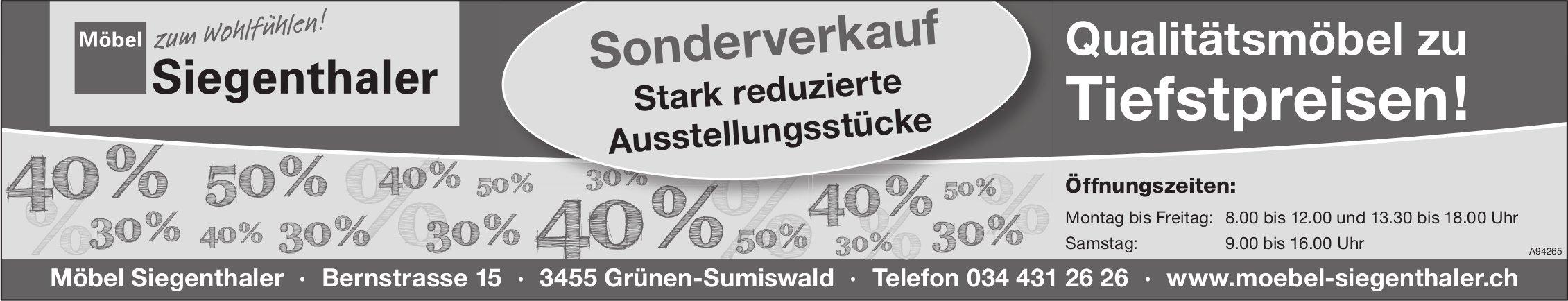 Moebel Siegenthaler - Qualitätsmöbel zu Tiefstpreisen! Sonderverkauf, Grünen-Sumiswald