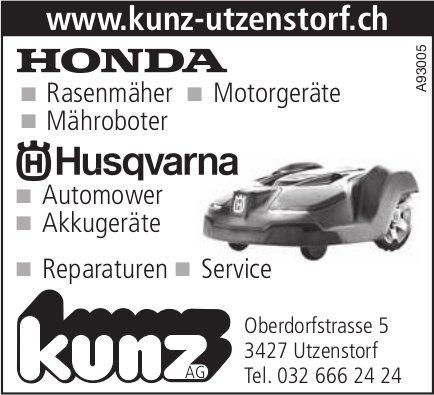 Kunz AG, Utzenstorf - HONDA, Husqvarna
