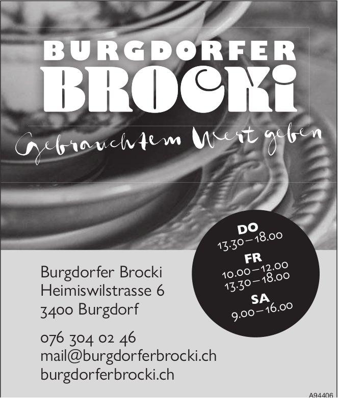 Burgdorfer Brocki, Burgdorf - Gebrauchtem Wert geben