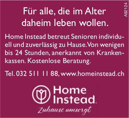 Homeinstead - Für alle, die im Alter daheim leben wollen.