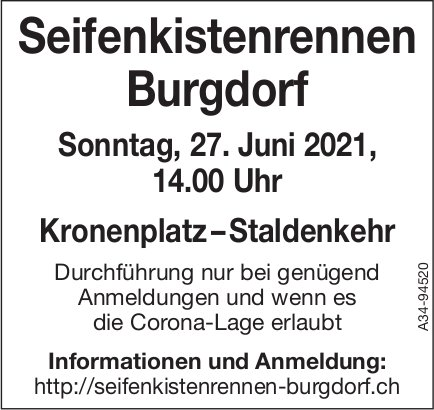 Seifenkistenrennen Burgdorf, 27. Juni