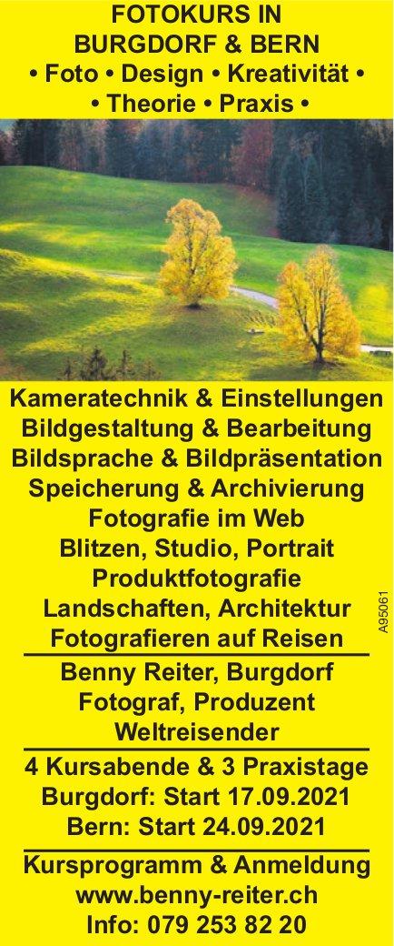 Benny Reiter, Bern - Fotokurs in Burgdorf & Bern