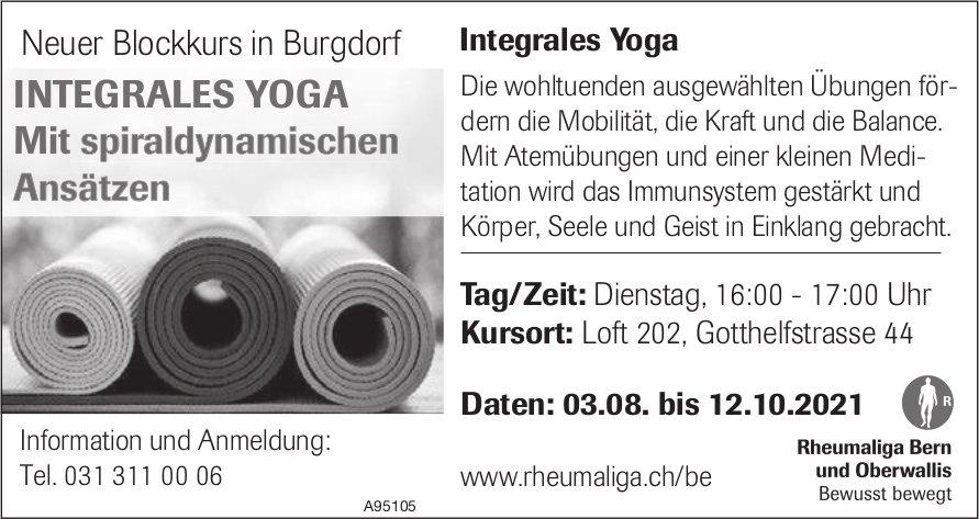 Rheumaliga Bern und Oberwallis - Neuer Blockkurs in Burgdorf Integrales Yoga, 03. August bis 12. Oktober