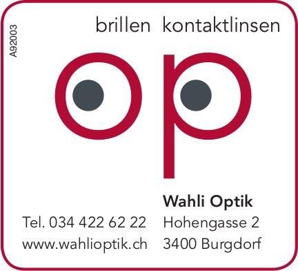 Wahli Optik, Burgdorf - Brillen / Kontaktlinsen