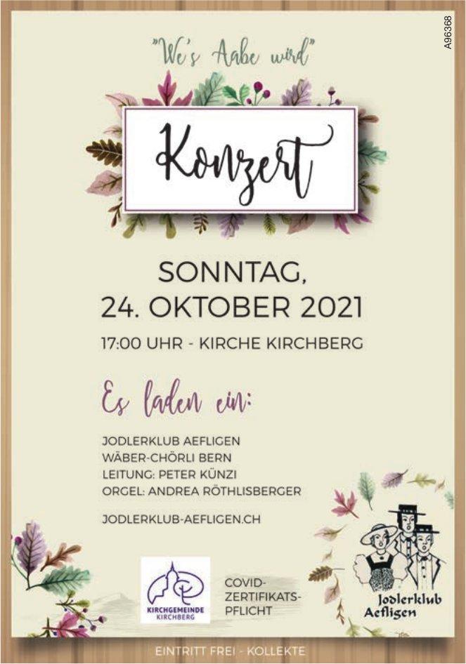 Jodlerklub Aefligen - Konzert, 24. Oktober, Kirchberg