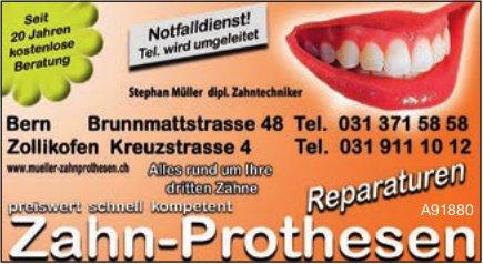 Stephan Müller, Bern & Zollikofen - Zahn-Prothesen & Reparaturen