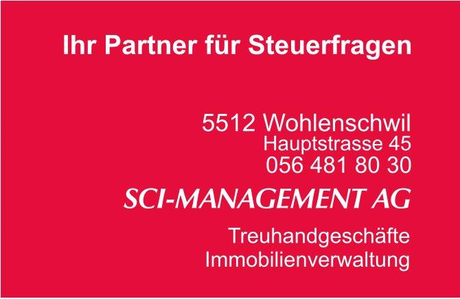 SCI-MANAGEMENT AG - Ihr Partner für Steuerfragen
