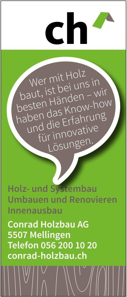 Conrad Holzbau AG - Holz- und Systembau, Umbauen und Renovieren, Innenausbau
