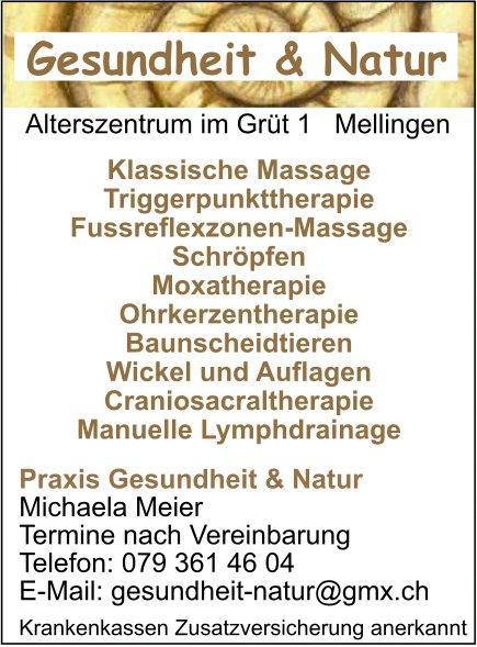 Praxis Gesundheit & Natur - Klassische Massage, Triggerpunkttherapie, Fussreflexzonen-Massage uvm.