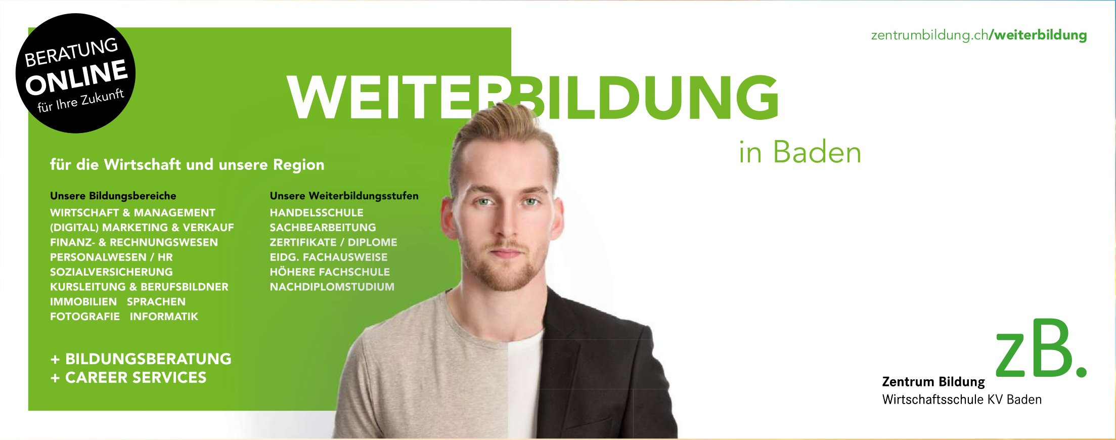 Zentrum Bildung Wirtschaftsschule KV Baden - Weiterbildung in Baden