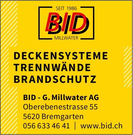 BID - G. Millwater AG - DECKENSYSTEME, TRENNWÄNDE, BRANDSCHUTZ