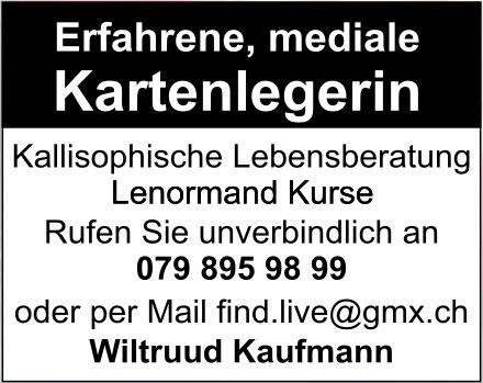 Wiltruud Kaufmann - Erfahrene, mediale Kartenlegerin