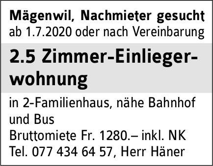 2.5 Zimmer-Einliegerwohnung, Mägenwil,  Nachmieter gesucht