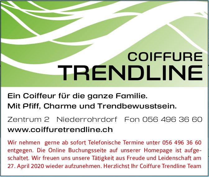 Wir nehmen gerne ab sofort Telefonische Termine unter 056 496 36 60, Coiffure Trendline