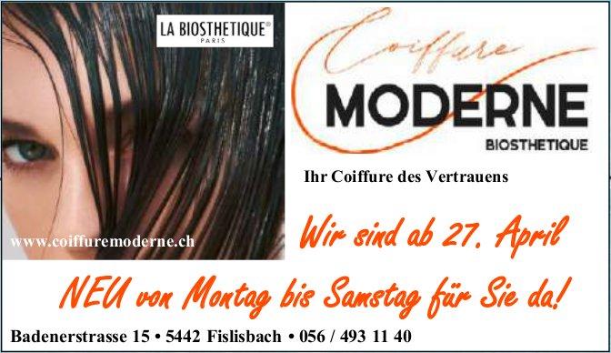 MODERNE BIOSTHETIQUE, Fislisbach - Wir sind ab 27. April NEU von Montag bis Samstag für Sie da!
