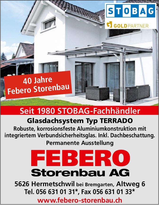 Febero Storenabu AG,  Hermetschwil - Seit 1980 STOBAG-Fachhändler