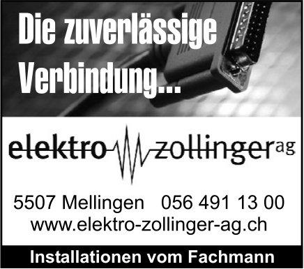 Elektro Zollinger AG, Mellingen - Die zuverlässige Verbindung...