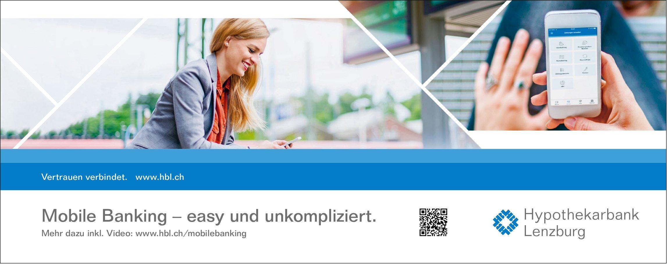 Hypothekarbank Lenzburg, Mobile Banking - easy und unkompliziert.