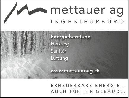 Mettauer AG, Erneuerbare Energie,  auch für Ihre Gebäude