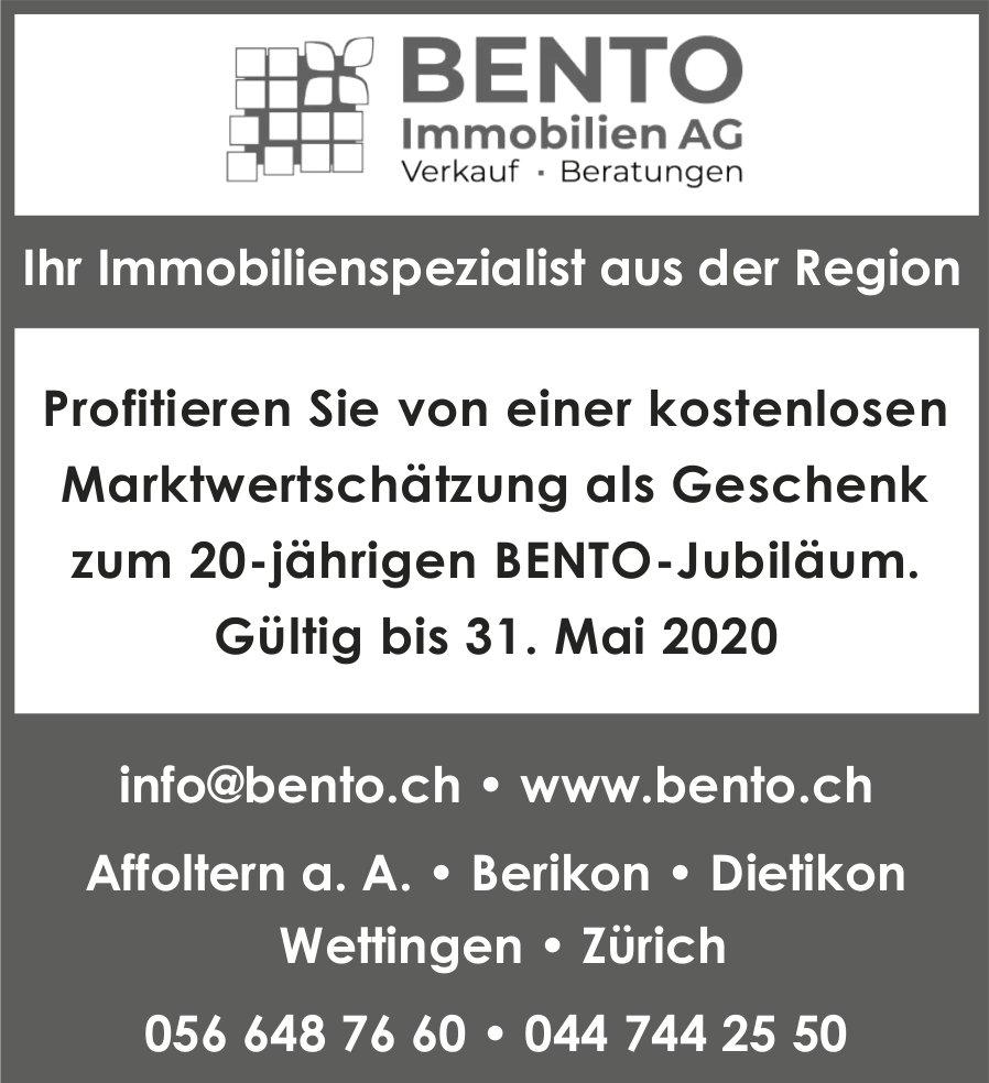 BENTO Immobilien AG, Ihr Immobilienspezialist aus der Region