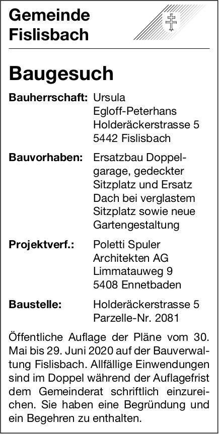 Baugesuche,  Fislisbach