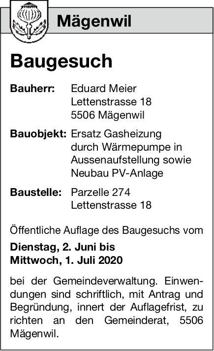 Baugesuche,  Mägenwil