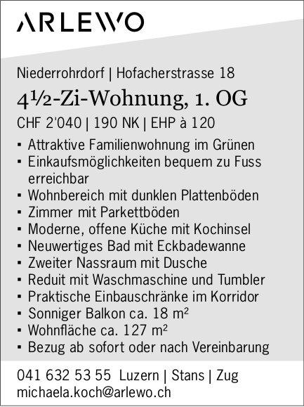4.5 Zimmer-Wohnung, Niederrohrdorf,  zu vermieten
