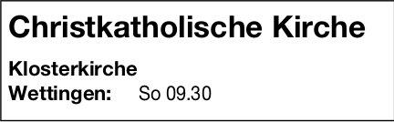 Christkatholische Kirche, Wettingen