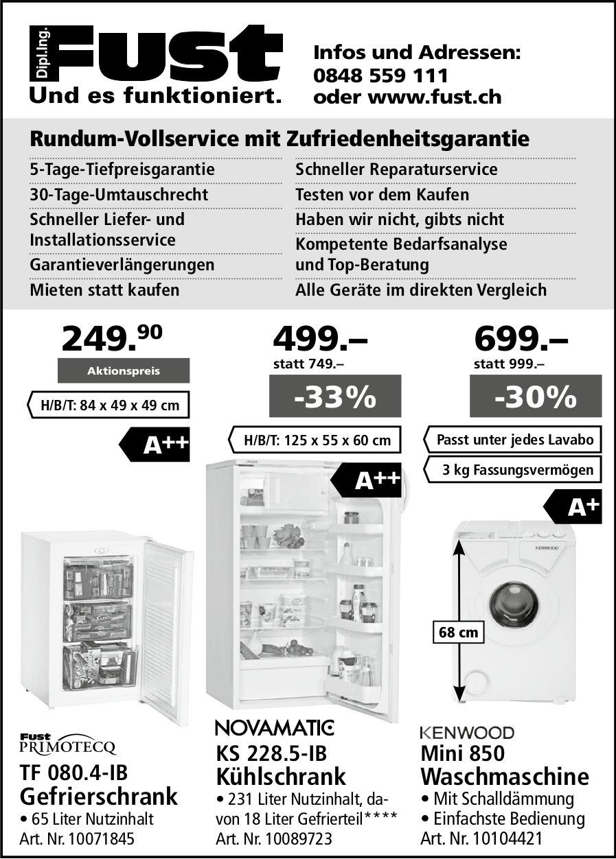 Dipl. Ing. Fust, Rundum-Vollservice mit Zufriedenheitsgarantie