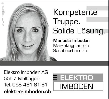 Elektro Imboden AG, Mellingen - Kompetente Truppe. Solide Lösung.