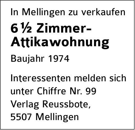 6½-Zimmer-Wohnung, Mellingen, zu verkaufen